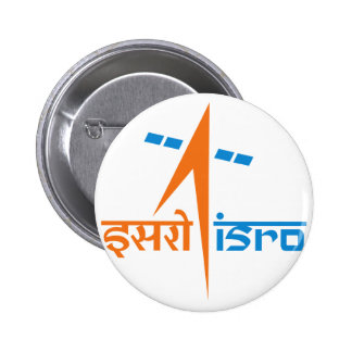 The Indian Space Research Organisation - ISRO 2 Inch Round Button