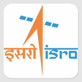 The Indian Space Research Organisation - ISRO Square Sticker