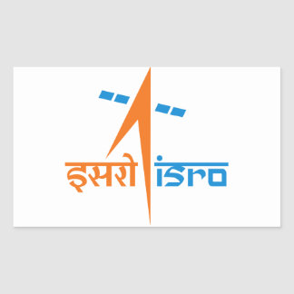 The Indian Space Research Organisation - ISRO Rectangle Sticker