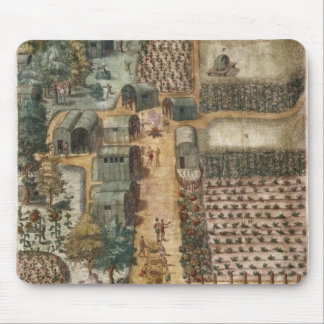 The Indian village of Secoton, c.1570-80 Mouse Pad