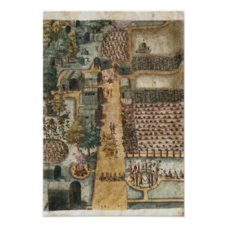 The Indian village of Secoton, c.1570-80 Poster