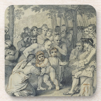 The Indians Delivering up the English Captives to Drink Coaster