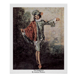 The Indifferent By Antoine Watteau Posters