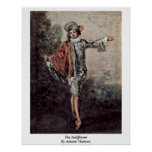 The Indifferent By Antoine Watteau Print