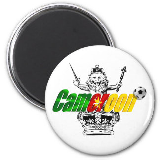 The Indomitable Lions Cameroon Grunge Gifts 2 Inch Round Magnet