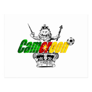 The Indomitable Lions Cameroon Grunge Gifts Postcard