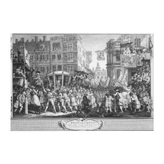The Industrious 'Prentice Lord Mayor of London Canvas Print