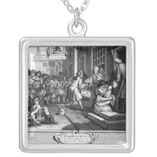 The Industrious 'Prentice out of his Time Silver Plated Necklace