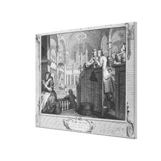 The Industrious 'Prentice Performing Canvas Print