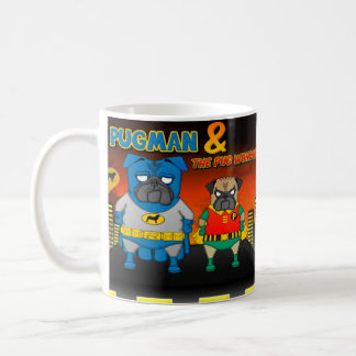 The Infamous Pugman and his sidekick Pug Wonder Coffee Mug