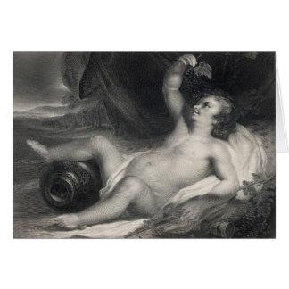 The Infant Bacchus Card