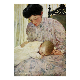 The Infant by Jessie Willcox Smith Poster