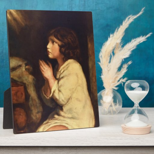 The Infant Samuel at Prayer  by Joshua Reynolds Plaques