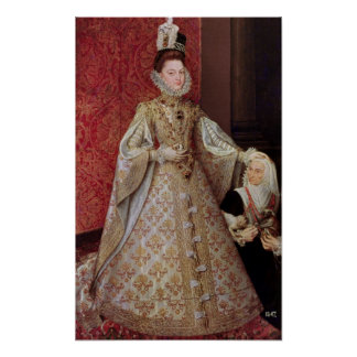 The Infanta Isabel Clara Eugenia  with the Print