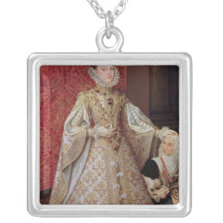 The Infanta Isabel Clara Eugenia  with the Silver Plated Necklace