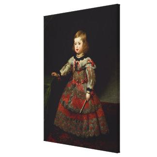 The Infanta Maria Margarita  of Austria Canvas Print