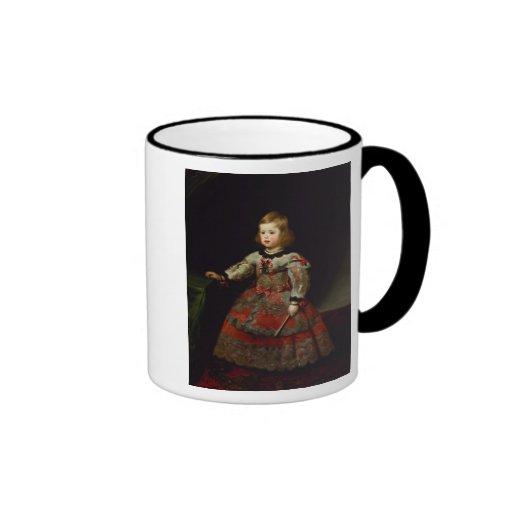 The Infanta Maria Margarita  of Austria Ringer Mug