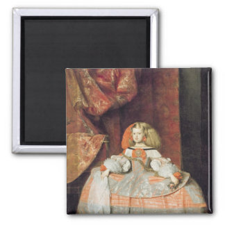 The Infanta Maria Marguerita  in Pink 2 Inch Square Magnet