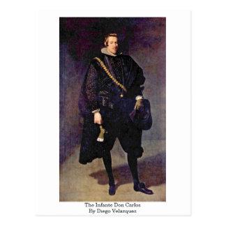The Infante Don Carlos By Diego Velazquez Postcard
