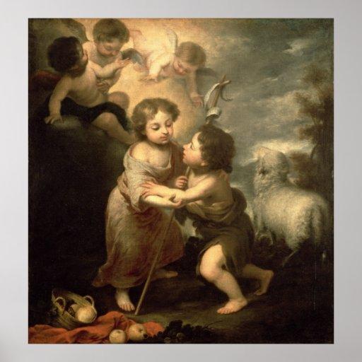 The Infants Christ and John the Baptist Poster