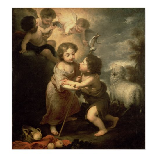 The Infants Christ and John the Baptist Poster