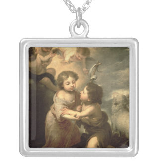 The Infants Christ and John the Baptist Silver Plated Necklace