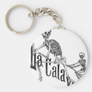 The Infernal Calavera. The Day of the Dead. Basic Round Button Keychain