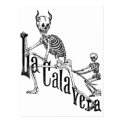 The Infernal Calavera. The Day of the Dead. Postcard