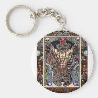 The infernal machine basic round button keychain