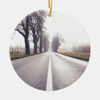 The Infinity Road Ceramic Ornament