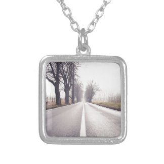 The Infinity Road Silver Plated Necklace