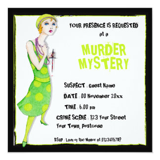The Ingenue Murder Mystery Invitation
