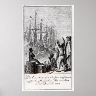 The Inhabitants of Boston Throw Poster