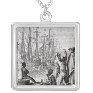 The Inhabitants of Boston Throw Silver Plated Necklace