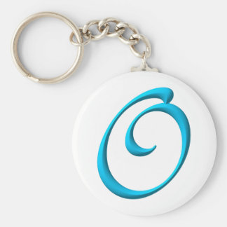 The Initial O Basic Round Button Keychain
