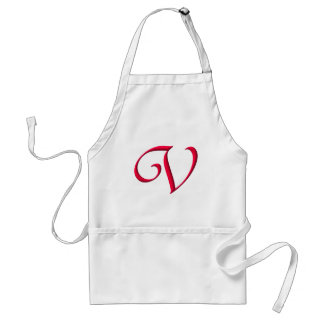 The Initial V Adult Apron