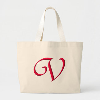 The Initial V Large Tote Bag
