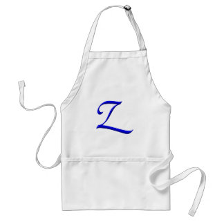 The Initial Z Adult Apron