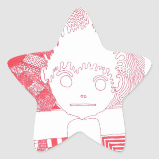 The Ink Fell All Over The Paper Star Sticker