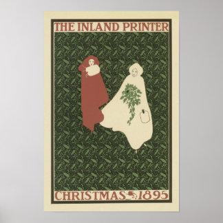 The Inland Printer Christmas 1895, Will Bradley Poster
