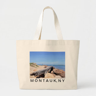 The Inlet at Lake Montauk Point Tote Bags
