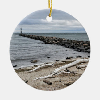 The Inlet at Lake Montauk Point Ceramic Ornament