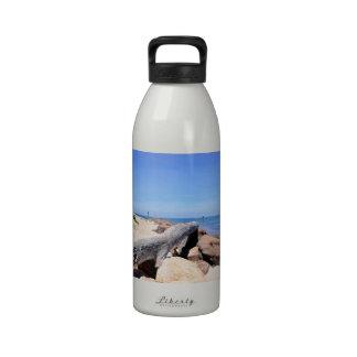 The Inlet at Lake Montauk Point Water Bottles