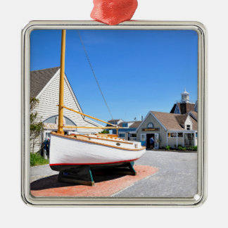 The Inlet  Village at Montauk Point Metal Ornament