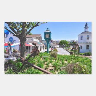 The Inlet Village at Montauk Point Rectangular Sticker