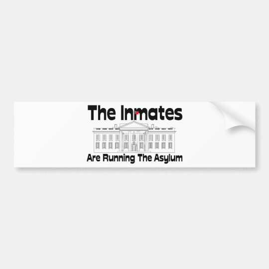 The Inmates Are Running The Asylum Bumper Sticker