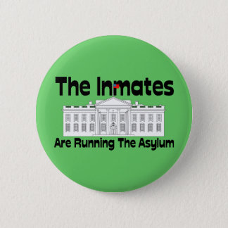 The Inmates Are Running The Asylum Pinback Button