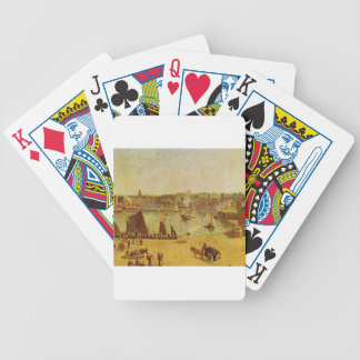 The Inner Harbor, Dieppe by Camille Pissarro Bicycle Playing Cards