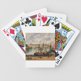 The Inner Harbor, Dpeppe, High Tide, Morning, Grey Bicycle Playing Cards
