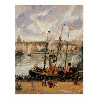 The Inner Harbor, Dpeppe, High Tide, Morning, Grey Postcard